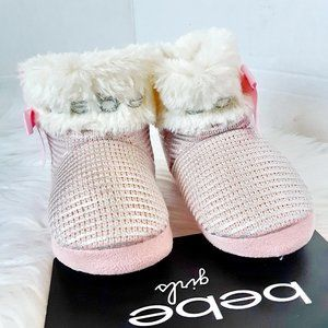 Bebe baby girl slipper size M(7-8)